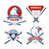 Retro baseball sports vector badges for boys sportswear Royalty Free Stock Photos