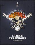 Retro baseball vector poster