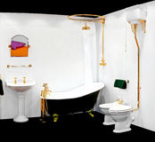 Retro bathroom Royalty Free Stock Photo