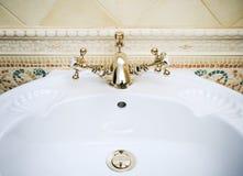 Retro bathroom faucet Stock Photos