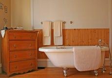 Retro bathroom style. Royalty Free Stock Images