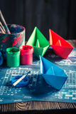 Retro battleship paper game ready to play Stock Photography