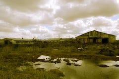Retro- Bauernhof im Einsturz Stockfotos
