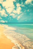 Retro Beach Royalty Free Stock Photography