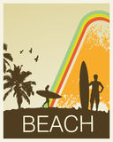 Retro Beach Royalty Free Stock Photography