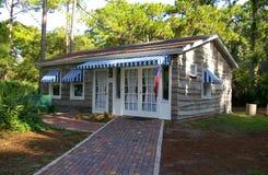Retro Beach Cottage Stock Photo