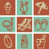 Retro beach design stock illustration