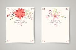 Retro beautiful flower invitation banners Stock Photo