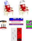 Retro beauty shop elements Stock Photos