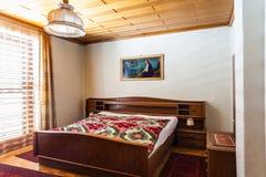 Retro bedroom in the morning Stock Image