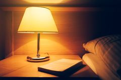 Retro bedside lamp royalty free stock images