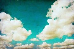 Retro beeld van hemel royalty-vrije illustratie