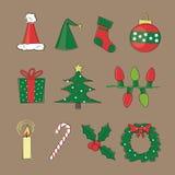 Retro Beelden van Kerstmis Royalty-vrije Stock Afbeelding