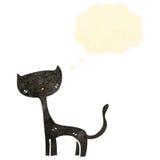 retro beeldverhaal zwarte kat Stock Fotografie