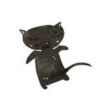retro beeldverhaal zwarte kat Royalty-vrije Stock Fotografie