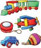 Retro beeldverhaalspeelgoed vector illustratie