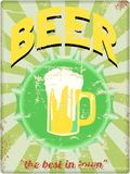 Retro beer illustration Royalty Free Stock Photography