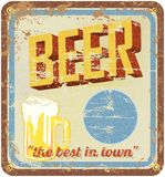 Retro beer illustration Stock Images