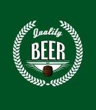 Retro beer label Stock Image