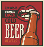 Retro Beer Royalty Free Stock Images