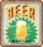 Retro beer poster Stock Image