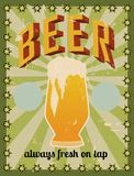 Retro beer poster Royalty Free Stock Photography