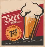Retro beer  poster Royalty Free Stock Images