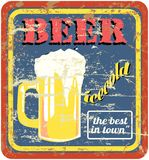 Retro beer sign Royalty Free Stock Photos