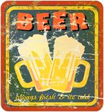 Retro beer sign Royalty Free Stock Images