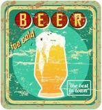 Retro beer sign, vector Stock Image