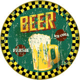 Retro beer sign Stock Images