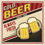 Retro beer vector poster Stock Photo