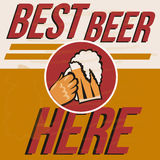 Retro beer vector poster Stock Images