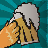 Retro beer vector poster Royalty Free Stock Photos