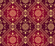 Retro behang. Naadloos Royalty-vrije Stock Foto