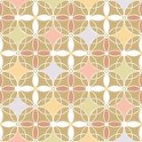 Retro beige achtergrond van het kleuren naadloze patroon Royalty-vrije Stock Foto's