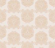 Retro beige patroon stock illustratie