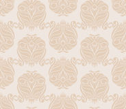 Retro beige pattern. Retro beige nature seamless pattern with a crowns Stock Image