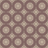 Retro beige pattern Royalty Free Stock Image