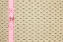 Retro beige polka dot textile Royalty Free Stock Images