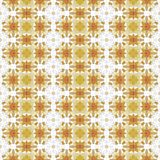 Retro beige white mosaic seamless design tile stock image