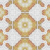 Retro beige white mosaic seamless design tile stock photography