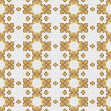 Retro beige white mosaic seamless design tile royalty free stock image
