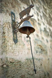 Retro bell on a wall Stock Image
