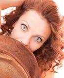 Retro bellezza Fotografia Stock Libera da Diritti