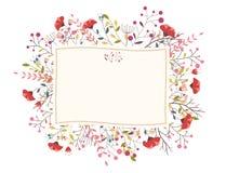 Retro bello fiore Immagine Stock Libera da Diritti