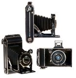 Retro bellows camera Royalty Free Stock Photo