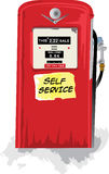 Retro Benzine Bowser 1 stock illustratie