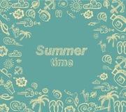 Retro beståndsdelar för calligraphic designer för sommar Royaltyfria Bilder