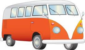 Retro Bestelwagen van de Kampeerauto Stock Afbeelding